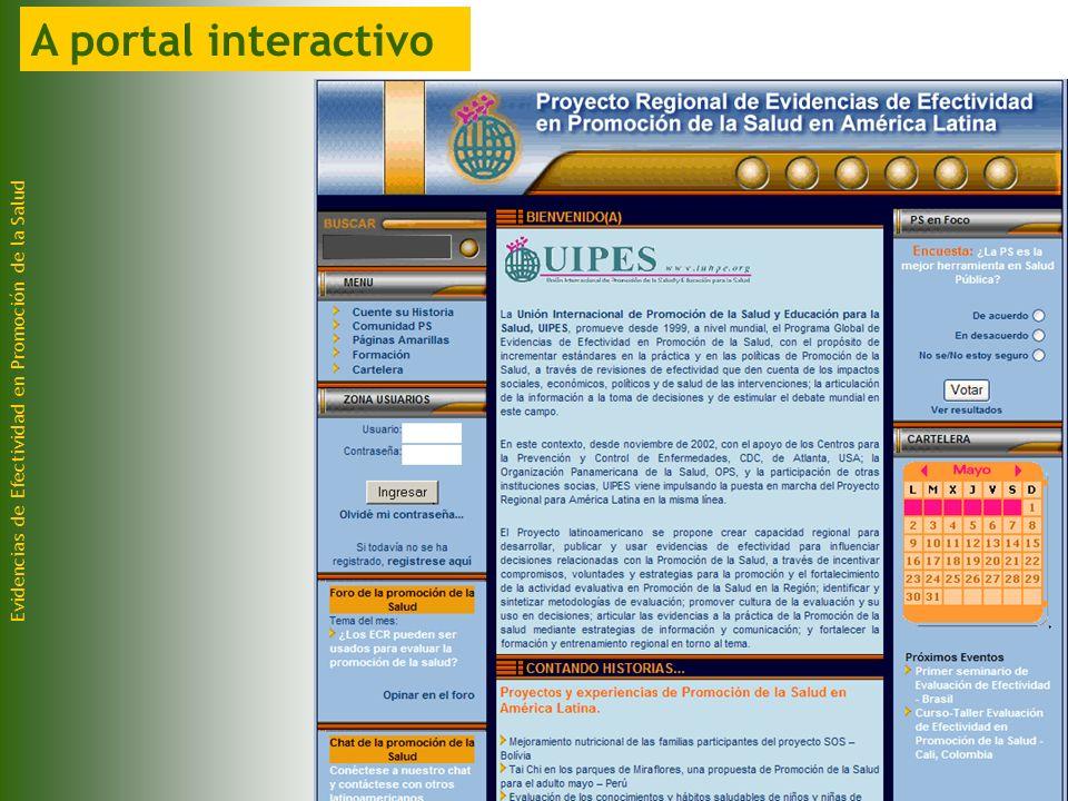 Evidencias de Efectividad en Promoción de la Salud A portal interactivo