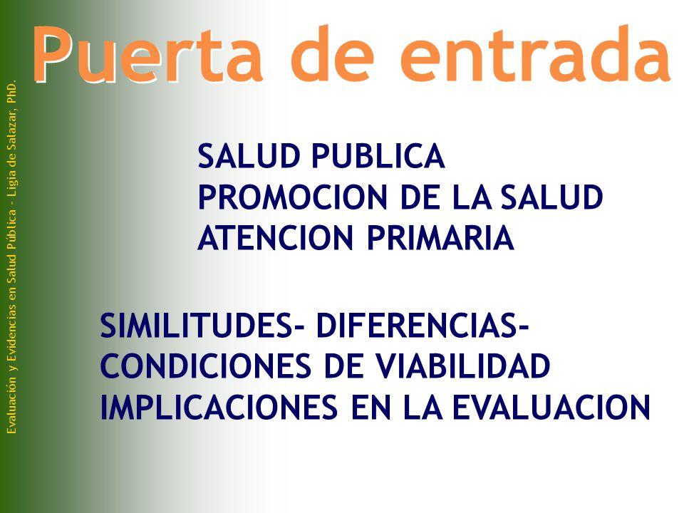 Evaluación y Evidencias en Salud Pública - Ligia de Salazar, PhD.