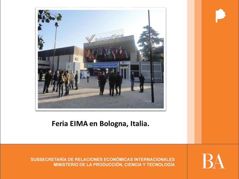 Feria EIMA en Bologna, Italia.