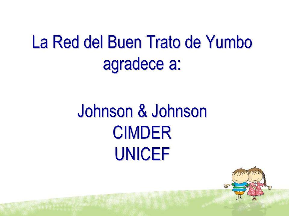 La Red del Buen Trato de Yumbo agradece a: Johnson & Johnson CIMDER UNICEF