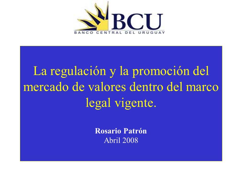 Plan de la presentación La misión del regulador El regulador y la promoción del mercado Las propuestas de cambios legales La estrategia para el mejoramiento del cumplimiento de la misión del regulador dentro del marco legal actual.