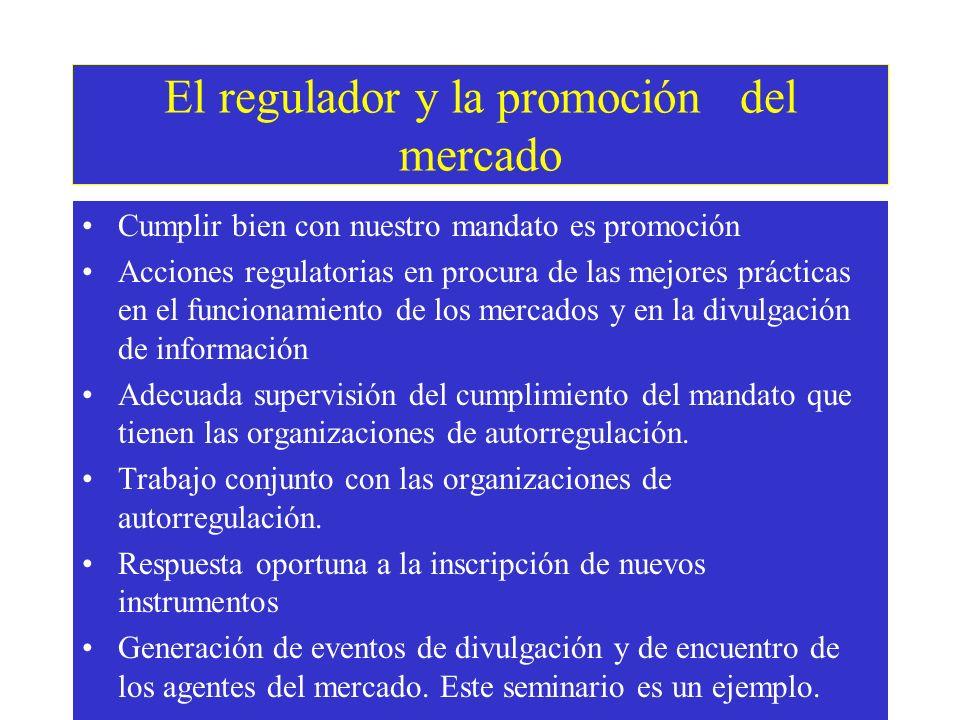 Mejora del Gobierno corporativo de las empresas Acciones regulatorias sobre obligaciones de informar Acciones regulatorias sobre normas de presentación de información (en conjunto con proyecto MEF) Mayor información al mercado Mayor protección del inversor