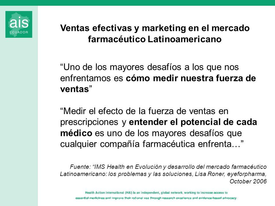 Uno de los mayores desafíos a los que nos enfrentamos es cómo medir nuestra fuerza de ventas Medir el efecto de la fuerza de ventas en prescripciones