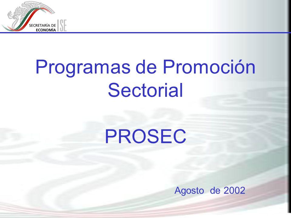 En 1998 el Gobierno Federal establece los Programas de Promoción Sectorial, con el propósito de reducir el impacto en los costos de operación de las empresas por la entrada en vigor el artículo 303 del TLCAN.