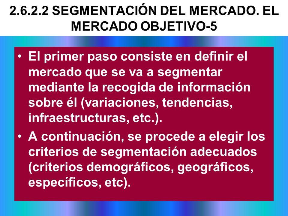El primer paso consiste en definir el mercado que se va a segmentar mediante la recogida de información sobre él (variaciones, tendencias, infraestruc