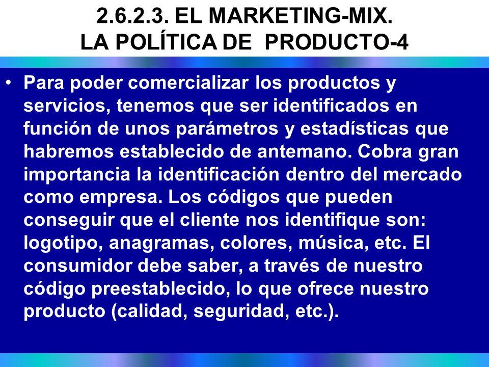 Para poder comercializar los productos y servicios, tenemos que ser identificados en función de unos parámetros y estadísticas que habremos establecid