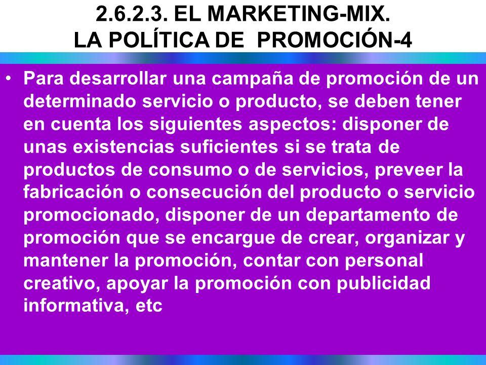 Para desarrollar una campaña de promoción de un determinado servicio o producto, se deben tener en cuenta los siguientes aspectos: disponer de unas ex