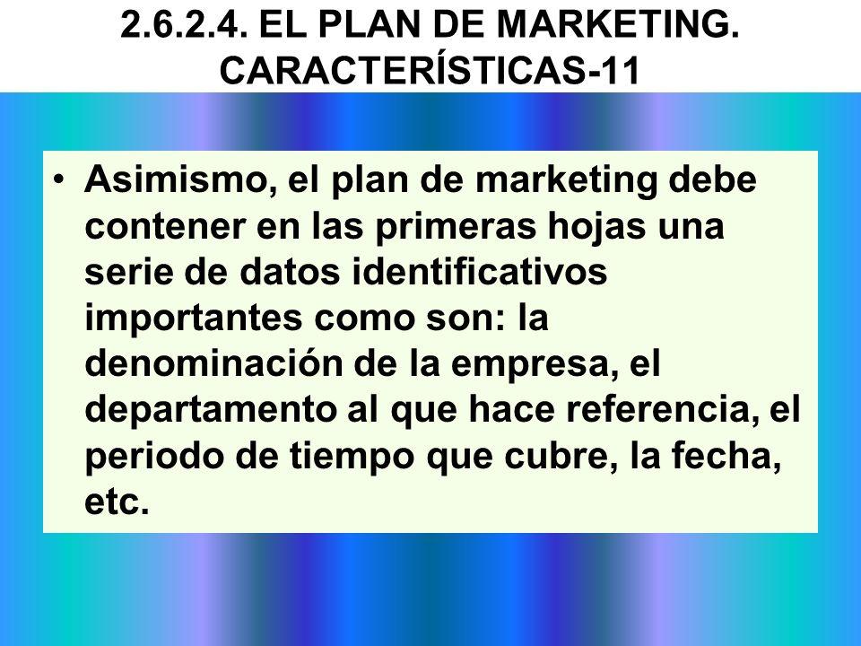 Asimismo, el plan de marketing debe contener en las primeras hojas una serie de datos identificativos importantes como son: la denominación de la empr