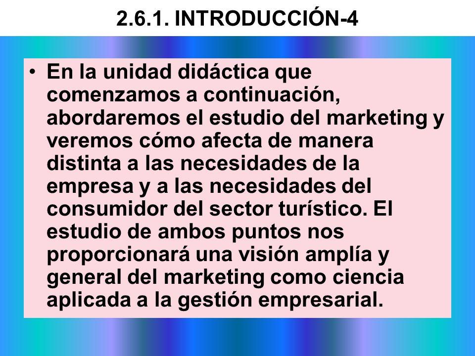2.6.1. INTRODUCCIÓN-4 En la unidad didáctica que comenzamos a continuación, abordaremos el estudio del marketing y veremos cómo afecta de manera disti