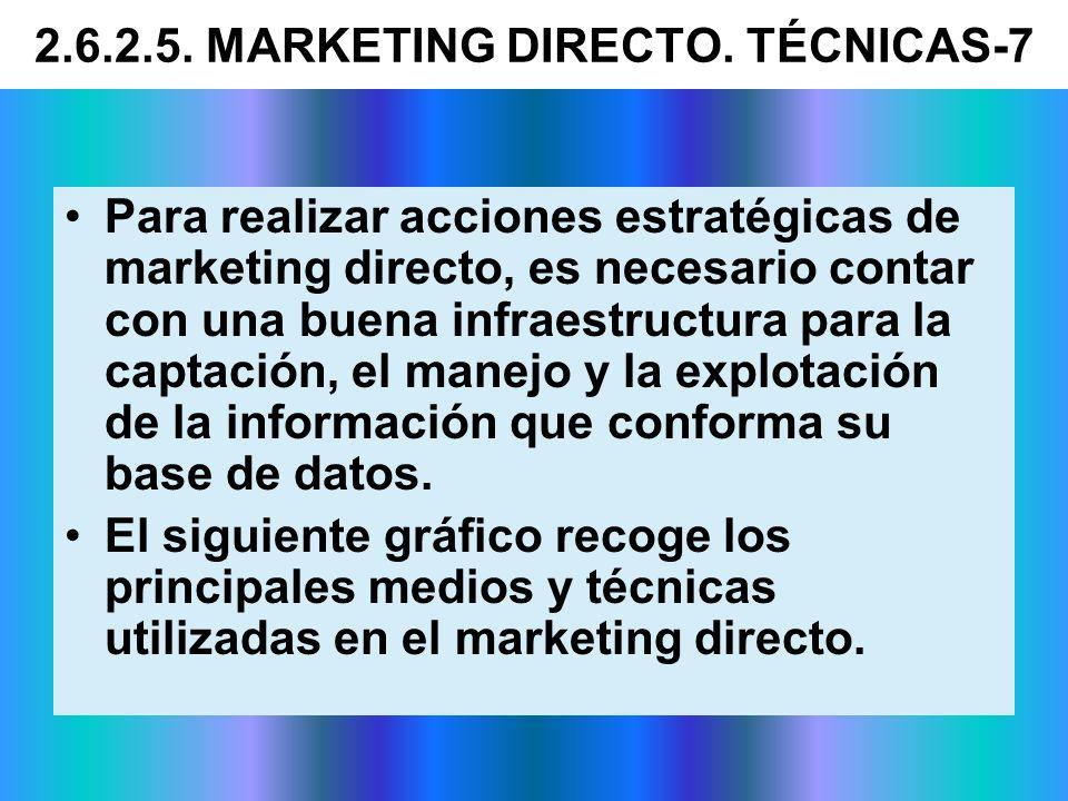 Para realizar acciones estratégicas de marketing directo, es necesario contar con una buena infraestructura para la captación, el manejo y la explotac
