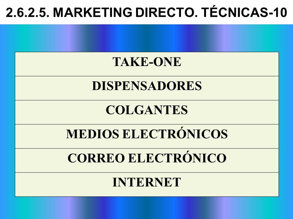 TAKE-ONE DISPENSADORES COLGANTES MEDIOS ELECTRÓNICOS CORREO ELECTRÓNICO INTERNET 2.6.2.5. MARKETING DIRECTO. TÉCNICAS-10