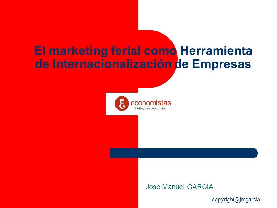 copyright@jmgarcia El marketing ferial como Herramienta de Internacionalización de Empresas Jose Manuel GARCIA
