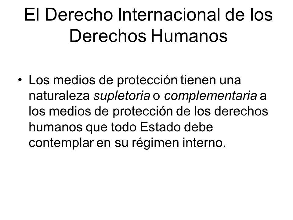 El Derecho Internacional de los Derechos Humanos Sanciona a los Estados por todos aquellos actos u omisiones que impliquen violaciones a los derechos humanos consagrados en Tratados internacionales.