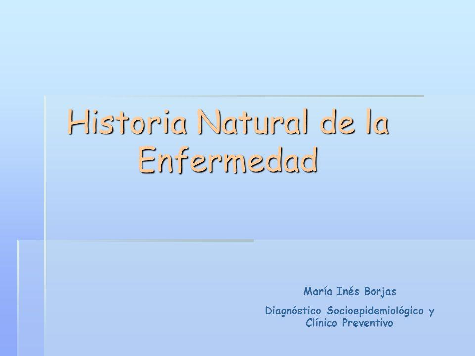 Historia Natural de la Enfermedad María Inés Borjas Diagnóstico Socioepidemiológico y Clínico Preventivo