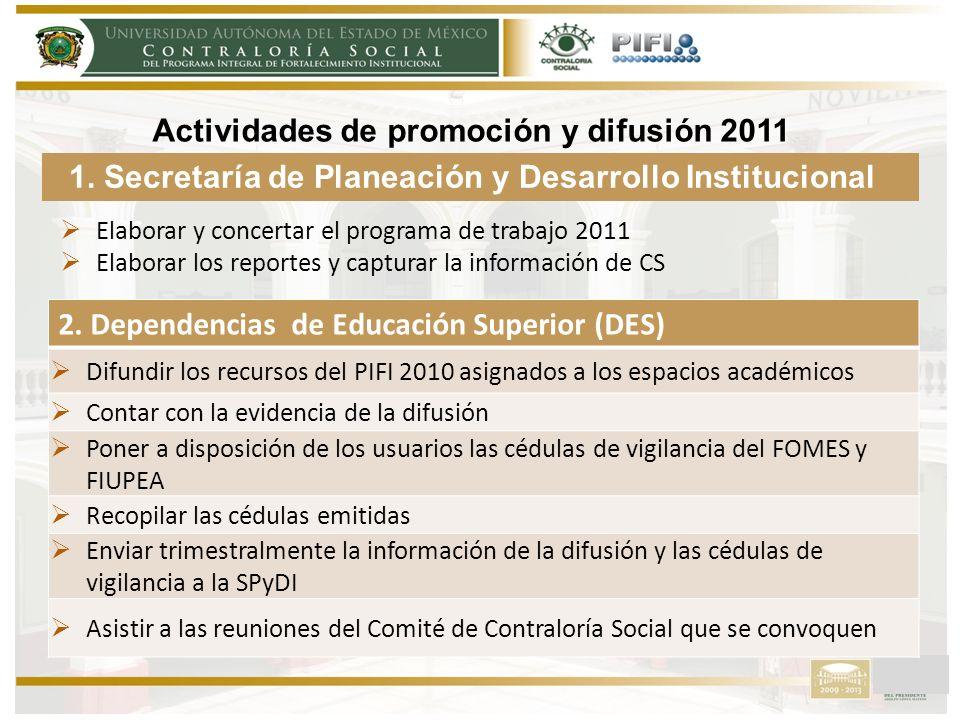 Actividades de promoción y difusión 2011 2.