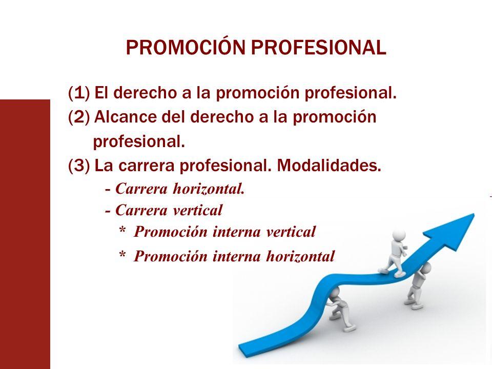 PROMOCIÓN PROFESIONAL (1) El derecho a la promoción profesional. (2) Alcance del derecho a la promoción profesional. (3) La carrera profesional. Modal