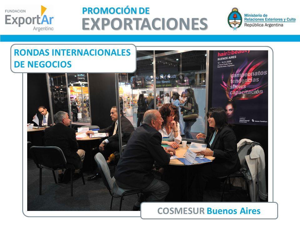 COSMESUR Buenos Aires RONDAS INTERNACIONALES DE NEGOCIOS EXPORTACIONES PROMOCIÓN DE
