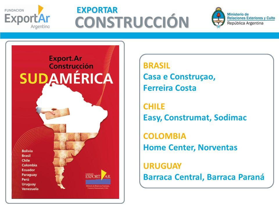 BRASIL Casa e Construçao, Ferreira Costa CHILE Easy, Construmat, Sodimac COLOMBIA Home Center, Norventas URUGUAY Barraca Central, Barraca Paraná CONST