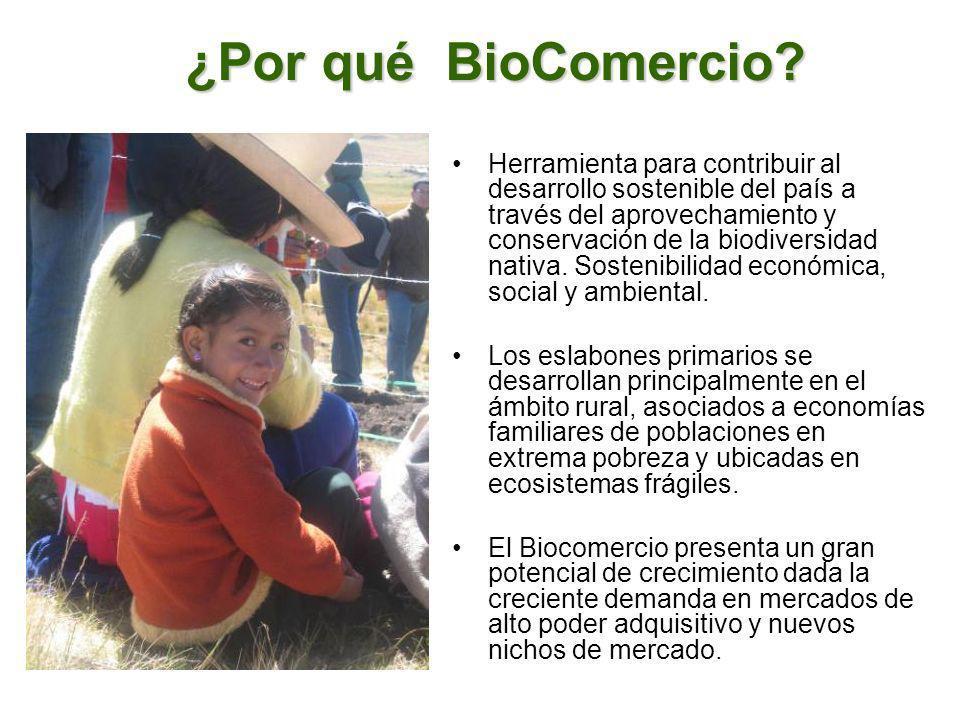 ¿Por qué BioComercio? Herramienta para contribuir al desarrollo sostenible del país a través del aprovechamiento y conservación de la biodiversidad na