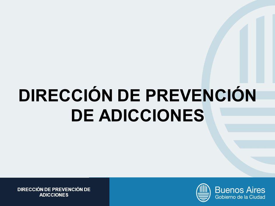Subsecretaria de Promoción Social DIRECCIÓN DE PREVENCIÓN DE ADICCIONES