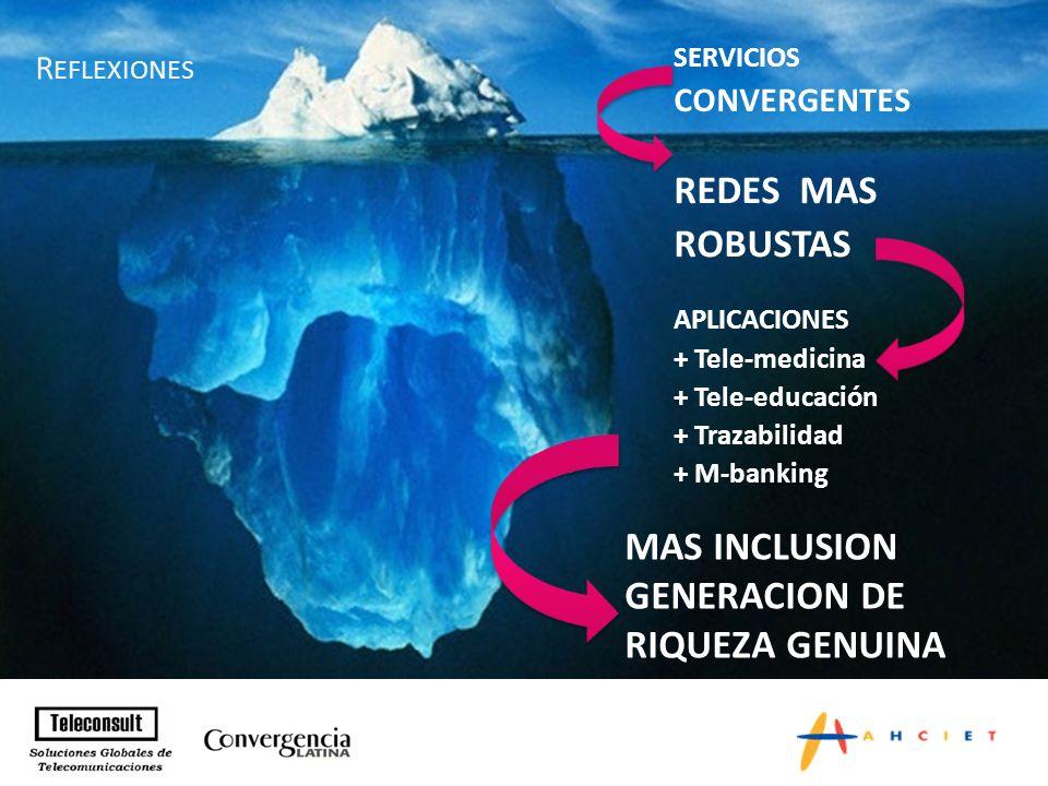 Negocios de la Convergencia para los Sectores de las Telecomunicaciones y del Audiovisual y el entorno necesario para la promoción de las inversiones