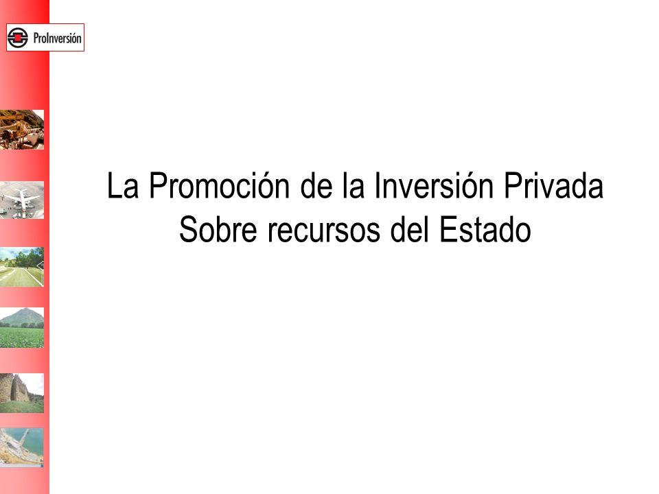 La Promoción de la Inversión Privada Sobre recursos del Estado