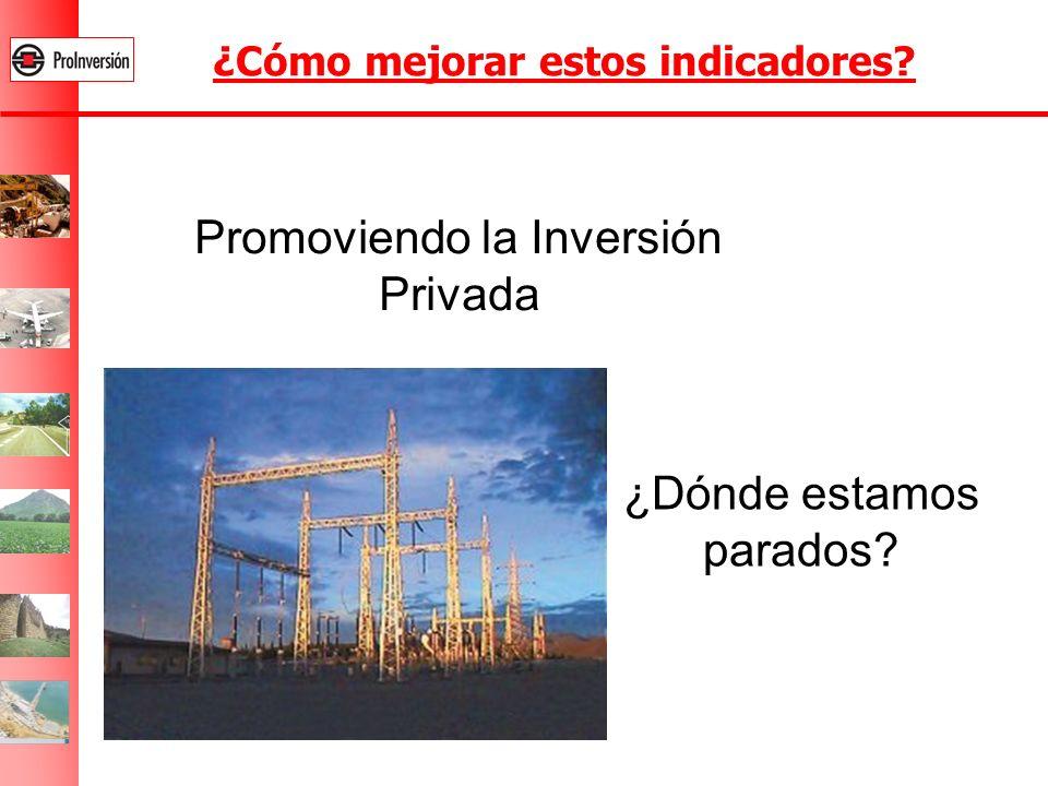 ¿Cómo mejorar estos indicadores? Promoviendo la Inversión Privada ¿Dónde estamos parados?