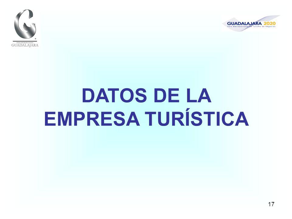 17 DATOS DE LA EMPRESA TURÍSTICA