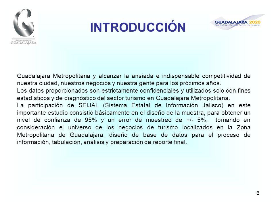 7 1.-PRINCIPALES RESULTADOS DE LA ENCUESTA Las empresas turísticas en la Zona Metropolitana de Guadalajara respondieron que el turismo que atienden es en cerca del 80% de origen nacional y el restante 20% internacional.