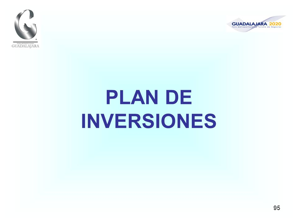 95 PLAN DE INVERSIONES