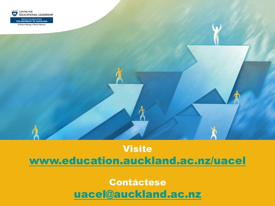 Visite www.education.auckland.ac.nz/uacel Contáctese uacel@auckland.ac.nz