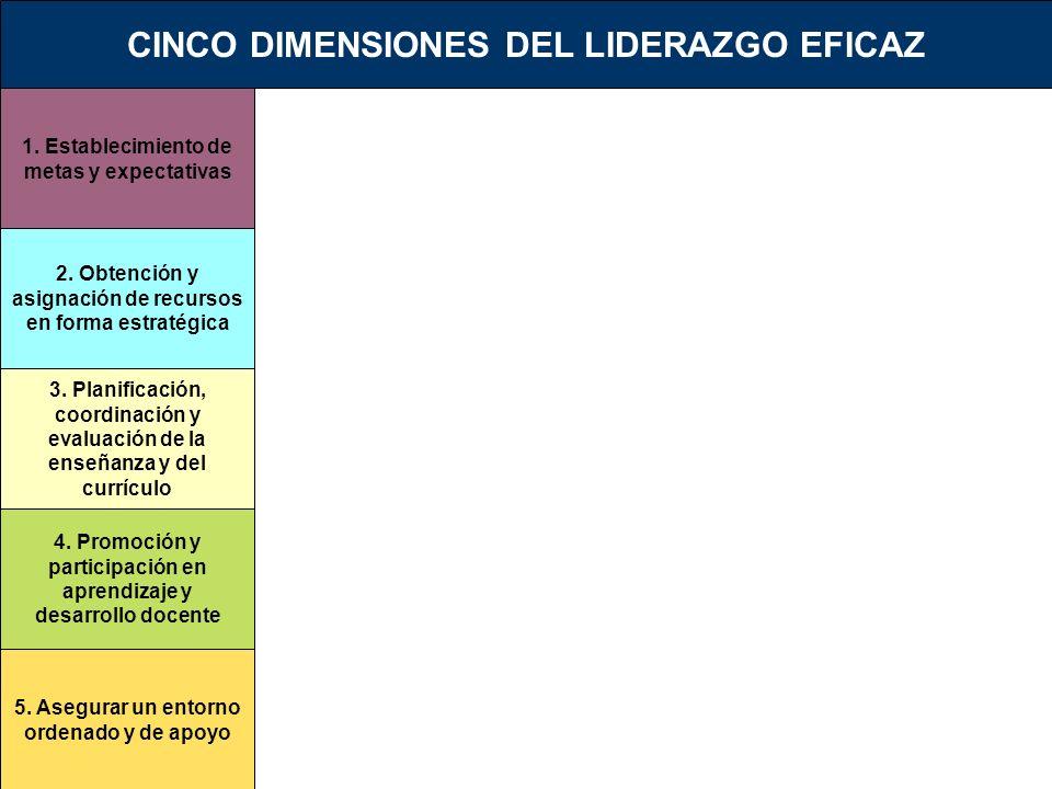 1. Establecimiento de metas y expectativas 2. Obtención y asignación de recursos en forma estratégica 3. Planificación, coordinación y evaluación de l