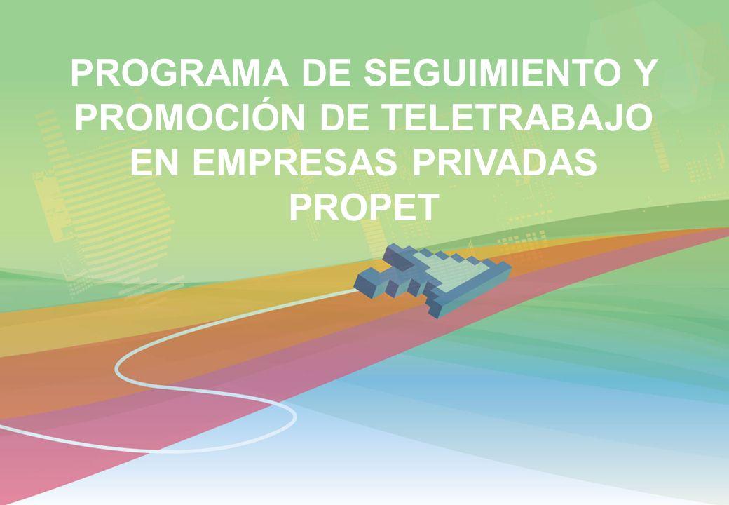 PROGRAMA DE SEGUIMIENTO Y PROMOCIÓN DE TELETRABAJO EN EMPRESAS PRIVADAS PROPET