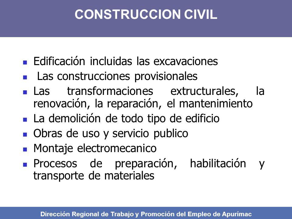 Obras de infraestructura, excavaciones y demoliciones Para profundidades mayores de 2 m, el acceso a las zanjas se hará siempre con el uso de escaleras portátiles.