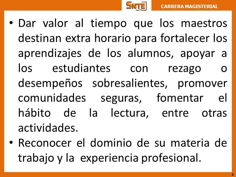 CARRERA MAGISTERIAL 10 BUENAS RAZONES DE LOS NUEVOS LINEAMIENTOS DE CARRERA MAGISTERIAL 1.