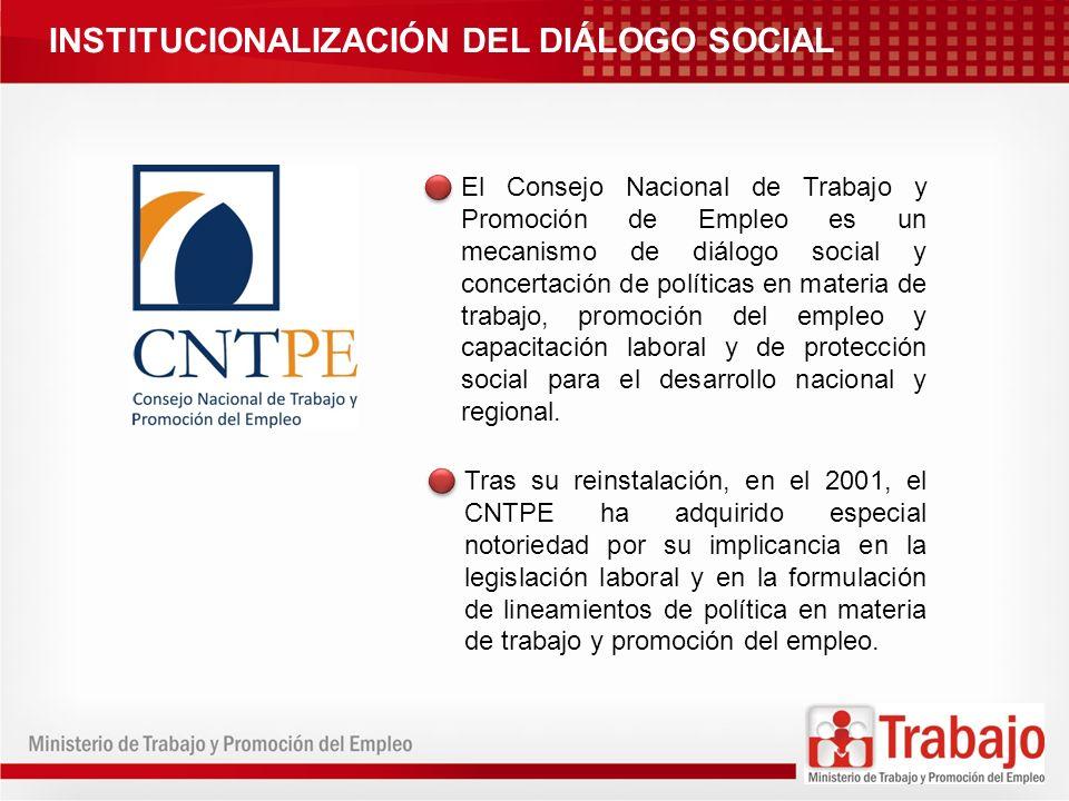 PROMOCIÓN DEL DIÁLOGO SOCIAL REGIONAL Talleres: Jornadas formativas para fortalecer las capacidades de propuesta de los actores sociales y propiciar el compromiso de impulsar la creación de CRTPEs.