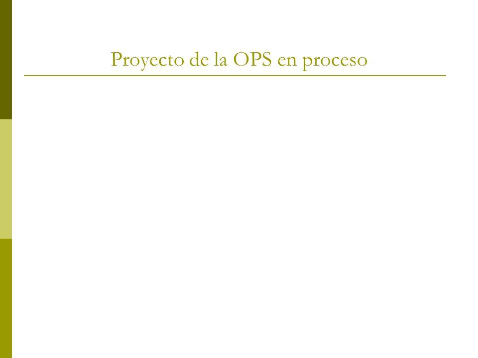 Proyecto de la OPS en proceso