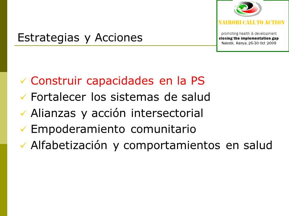 Proyecto CompHP : Developing Competencies and Professional Standards for Health Promotion Capacity Building in Europe (3) Etica en la PS Base de conocimientos (fundamentos) Propiciar cambio (5) Abogacía en salud (5) Mediación a través de alianzas (4) Comunicación (4) Liderato (6) Estimación-avalúo-análisis situacional (7) Planificación (5) Implementación (5) Evaluación e Investigación (5)