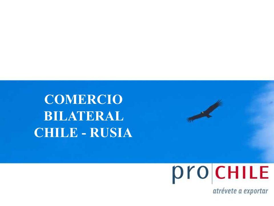 COMERCIO BILATERAL CHILE - RUSIA