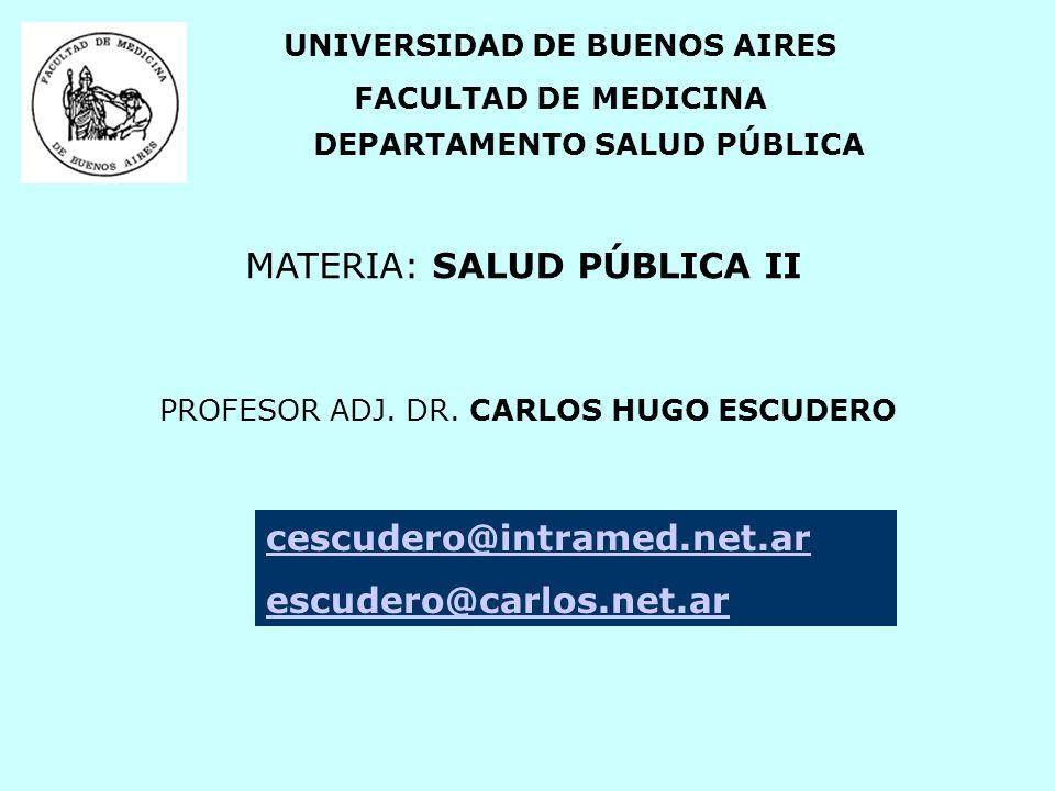 CONTENIDOS UNIDAD 1.- Funciones de la Salud Pública.