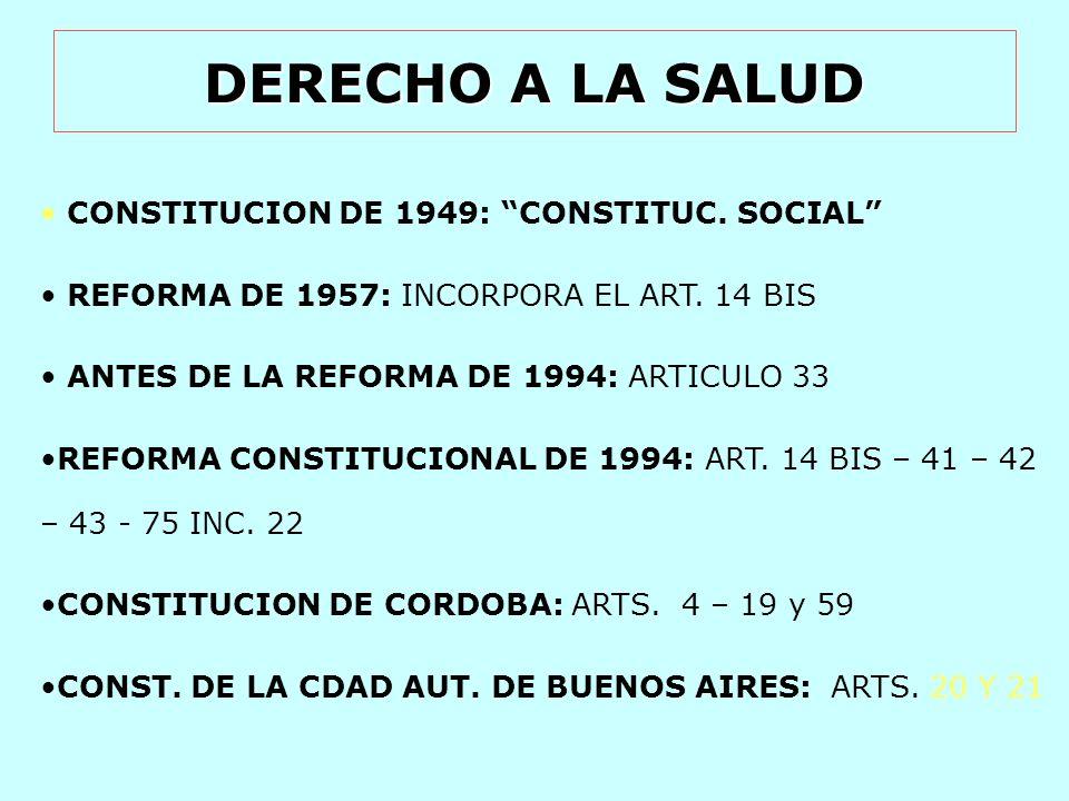 DERECHO A LA SALUD DECL.UNIV. DE LOS DERECHOS HUMANOS: ARTS.