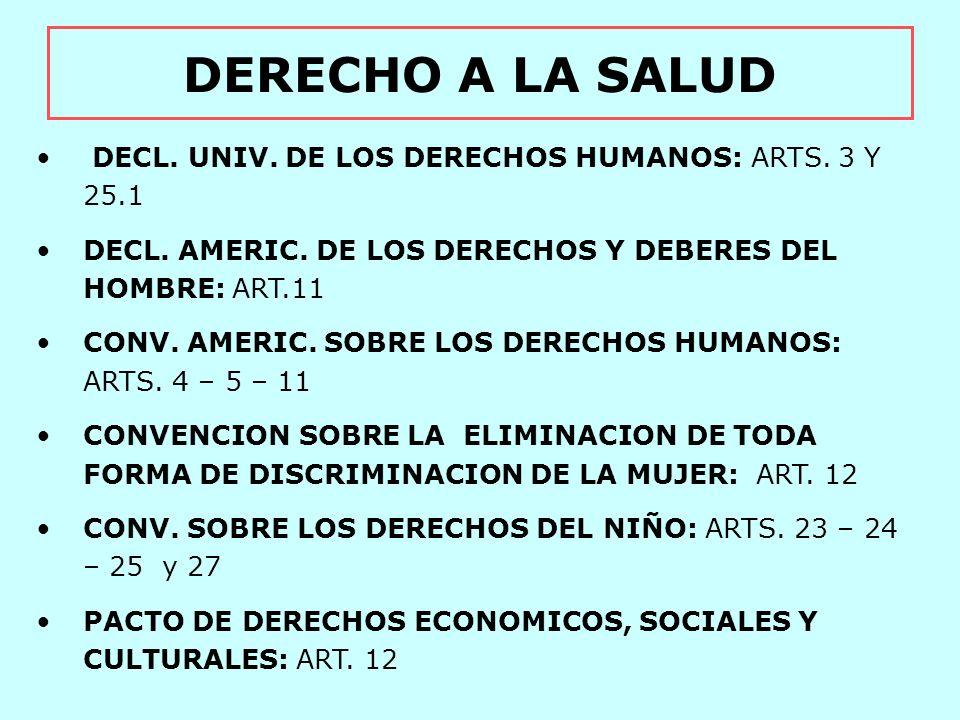 DERECHO DE LOS ANCIANOS PROTOCOLO DE SAN SALVADOR Art.