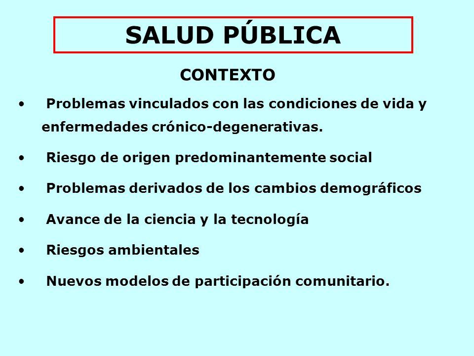 El papel de la salud pública consiste en fortalecer la capacidad de la sociedad para construir su salud y realizar completamente su potencial humano Declaración de la Conferencia Panamericana en Salud Pública Río de Janeiro, 1994.