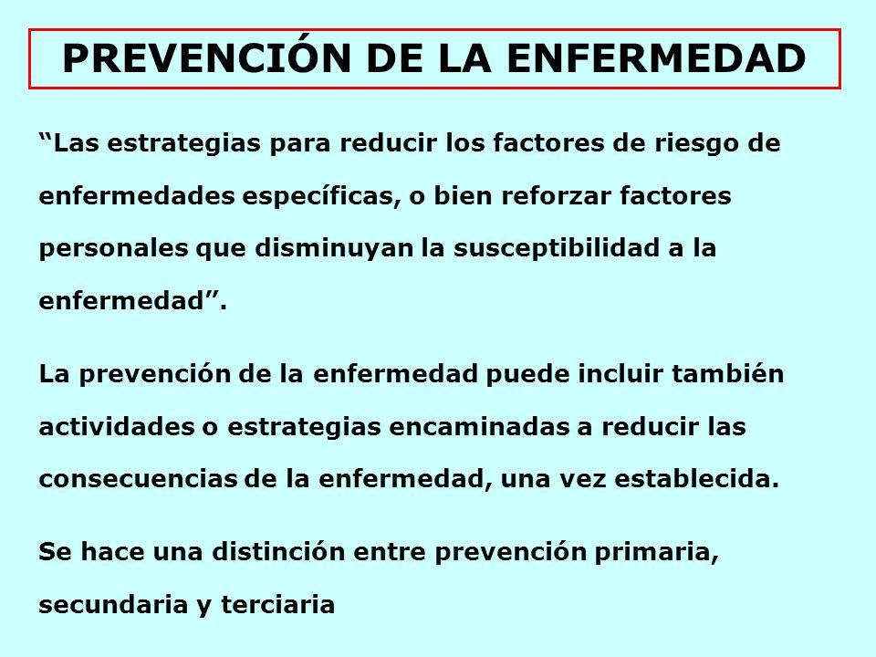 La prevención primaria pretende prevenir la aparición inicial de una enfermedad o dolencia.