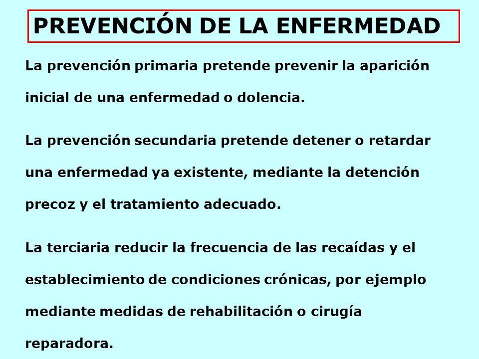 La prevención de la enfermedad es una actividad fundamental del campo médico destinada a los individuos o los grupos de riesgo.