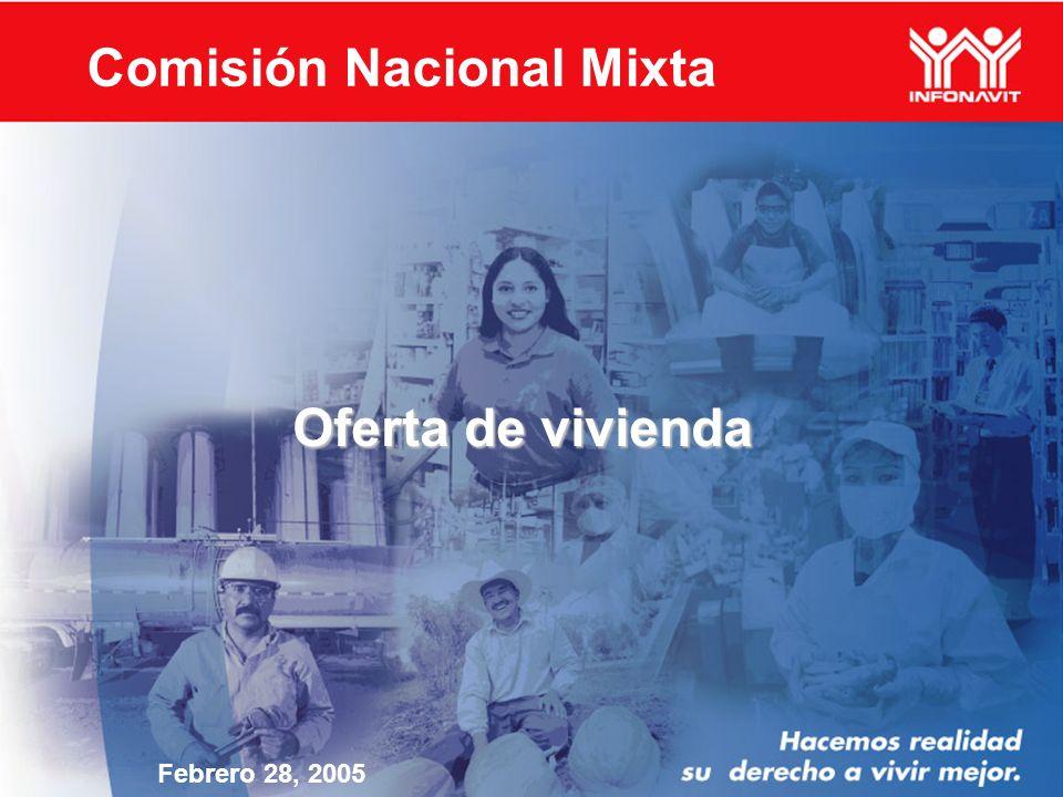 Oferta de vivienda Febrero 28, 2005 Comisión Nacional Mixta
