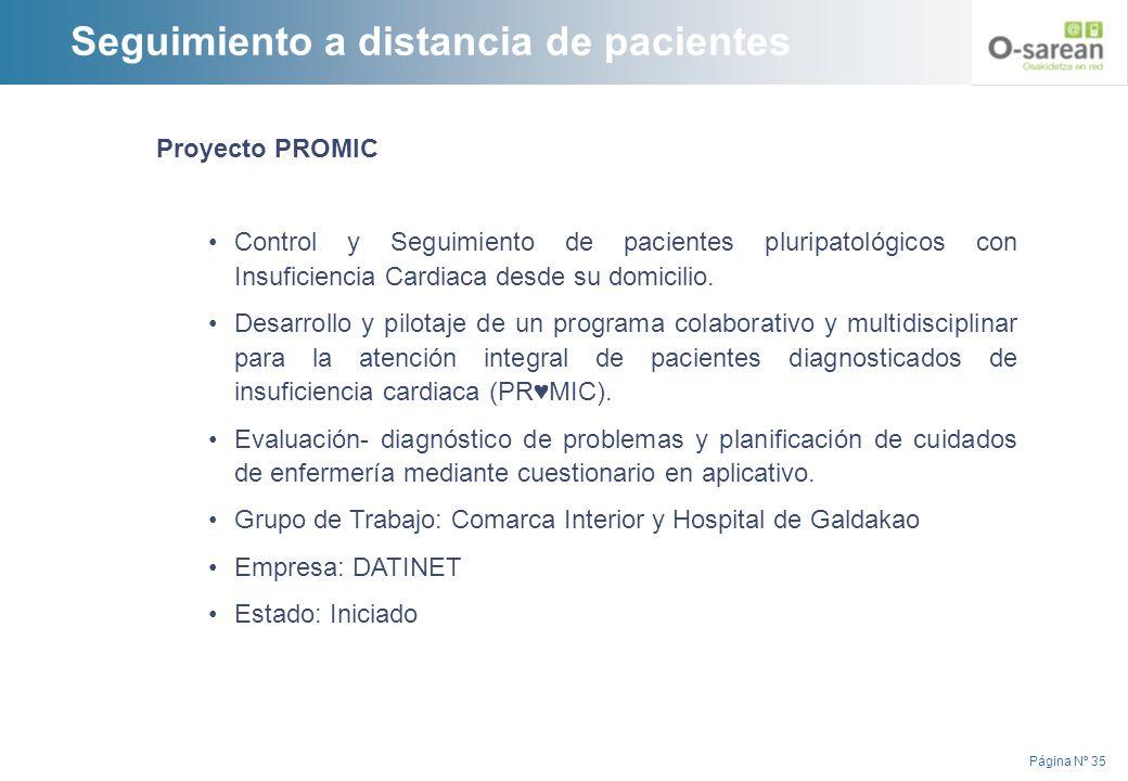 Página Nº 35 Proyecto PROMIC Control y Seguimiento de pacientes pluripatológicos con Insuficiencia Cardiaca desde su domicilio. Desarrollo y pilotaje
