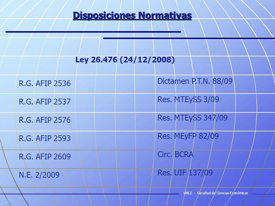 Disposiciones Normativas R.G. AFIP 2536 R.G. AFIP 2537 R.G.