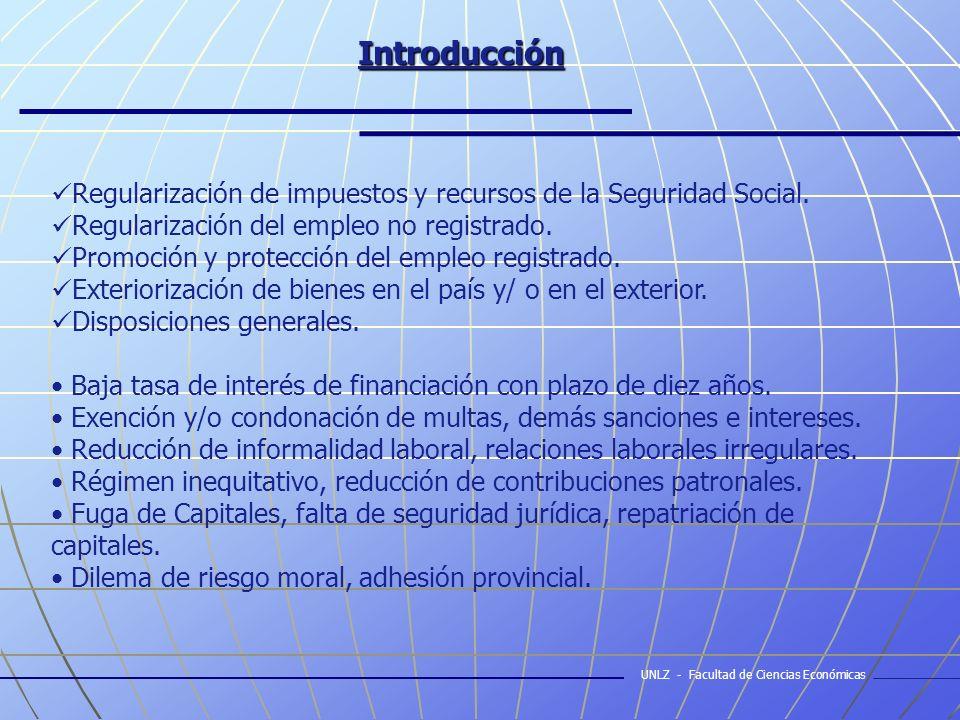 Introducción Regularización de impuestos y recursos de la Seguridad Social.