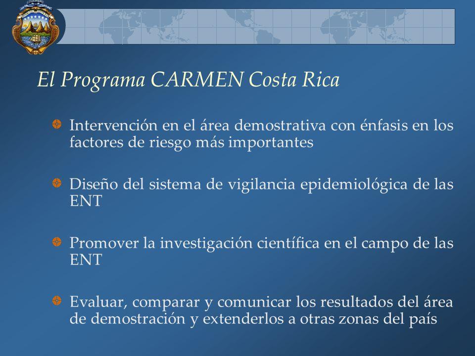 El Programa CARMEN Costa Rica Creó una estructura organizativa y funcional con enfoque multisectorial para formular las políticas y directrices nacion